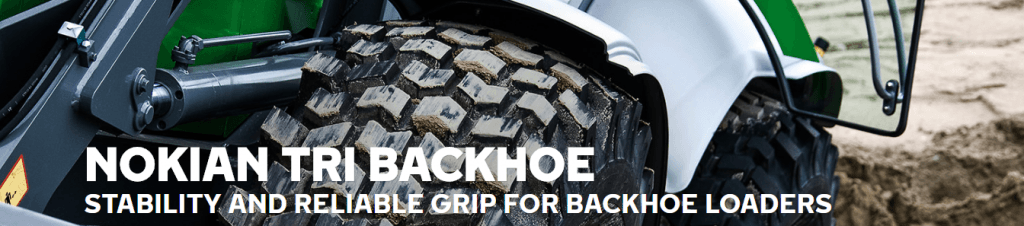 backhoe loader tires